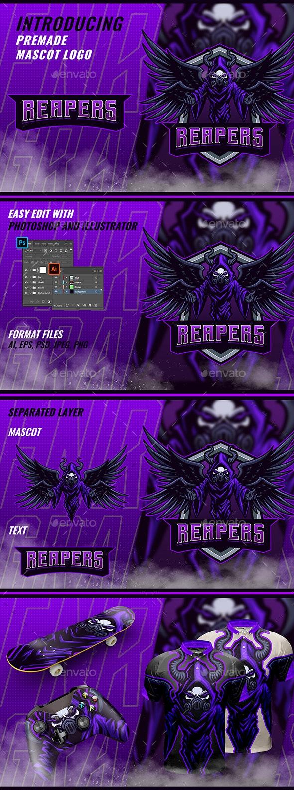 Death Reaper - Mascot & Esport Logo - Objects Logo Templates