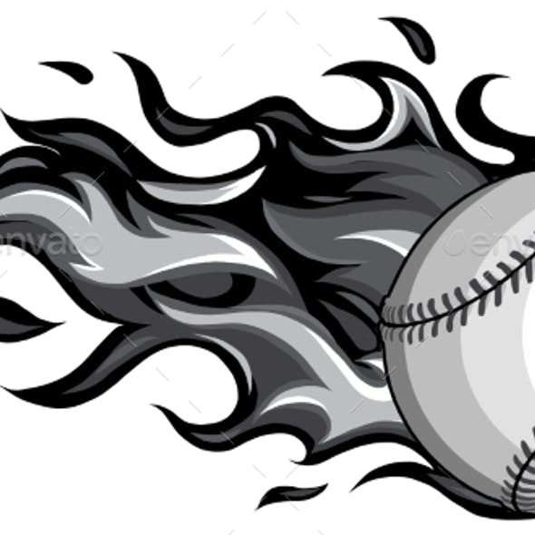 Monochromatic Baseball with Flames in White