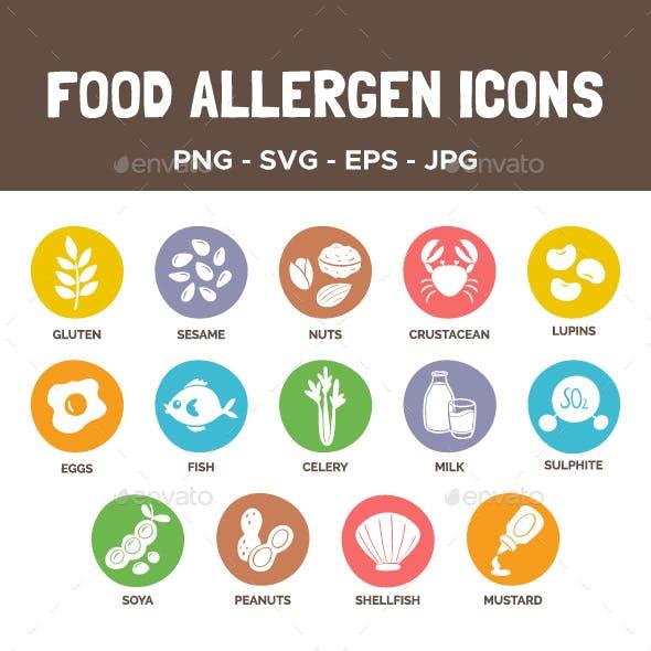 Food Allergen Icons