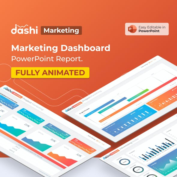 Dashi Marketing – Marketing Dashboard Report Presentation