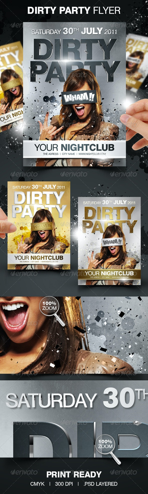 Dirty Party Flyer - Clubs & Parties Events