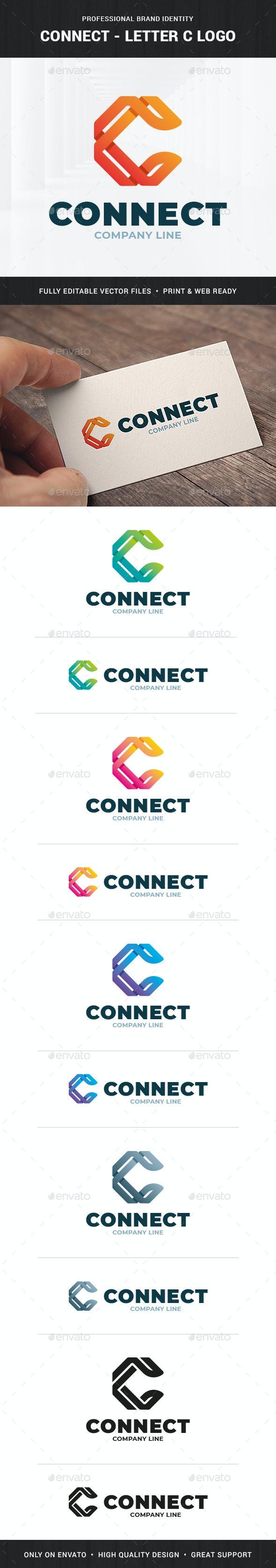Connect - Letter C Logo Template - Letters Logo Templates