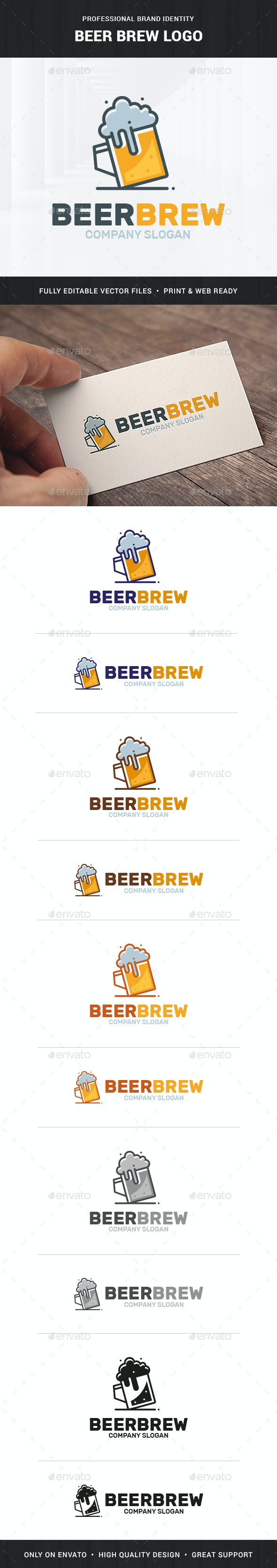 Beer Brew Logo Template - Food Logo Templates