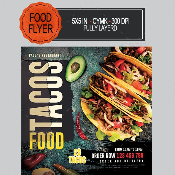 Tacos Food Flyer