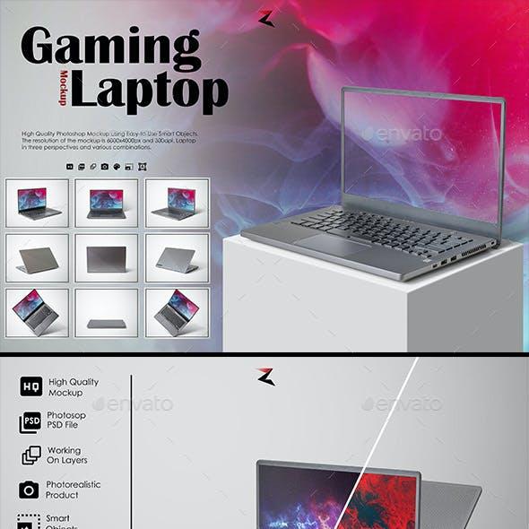 Gaming Laptop Mockup 6K
