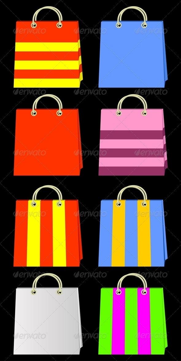 Color bags. - Objects Vectors