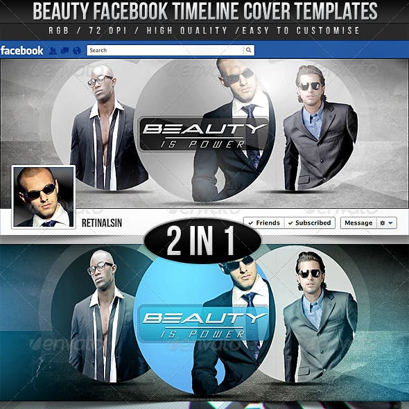 Beauty Facebook Timeline Covers - 2in1
