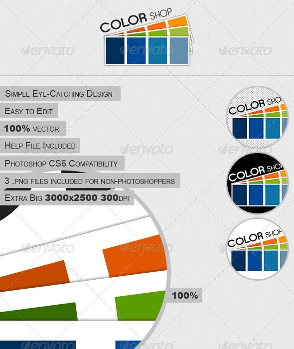 Color Shop - Objects Logo Templates
