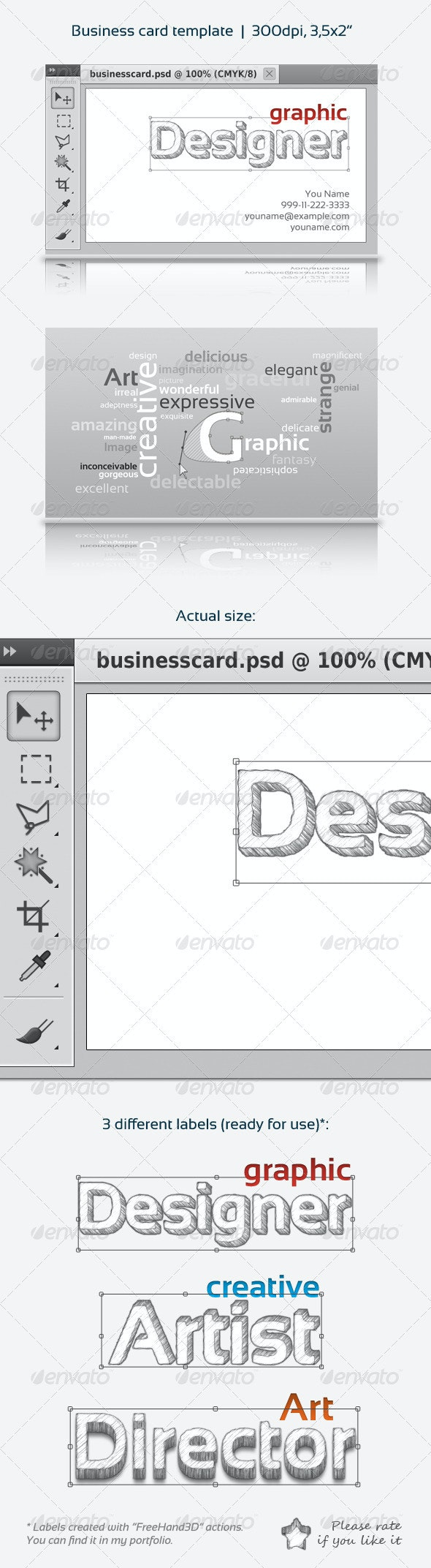Designer Business Card: PS interface - Creative Business Cards