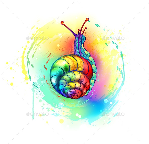 Rainbow Snail - Animals Characters