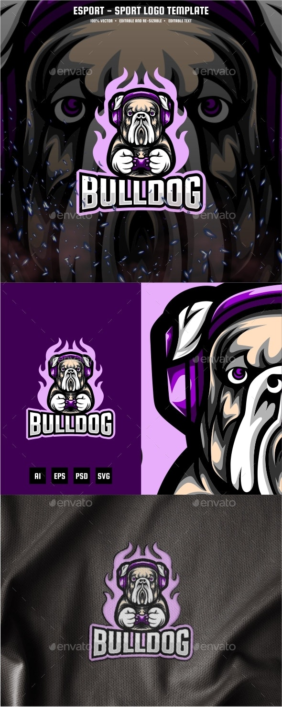 Bulldog E-sport and Sport Logo Template - Animals Logo Templates