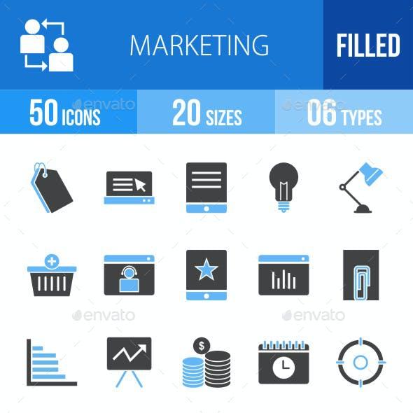 Marketing Blue & Black Icons
