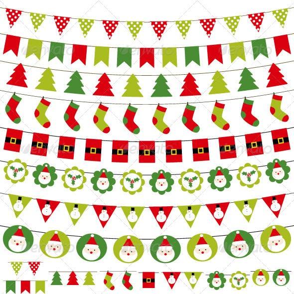 Christmas decoration vector set.