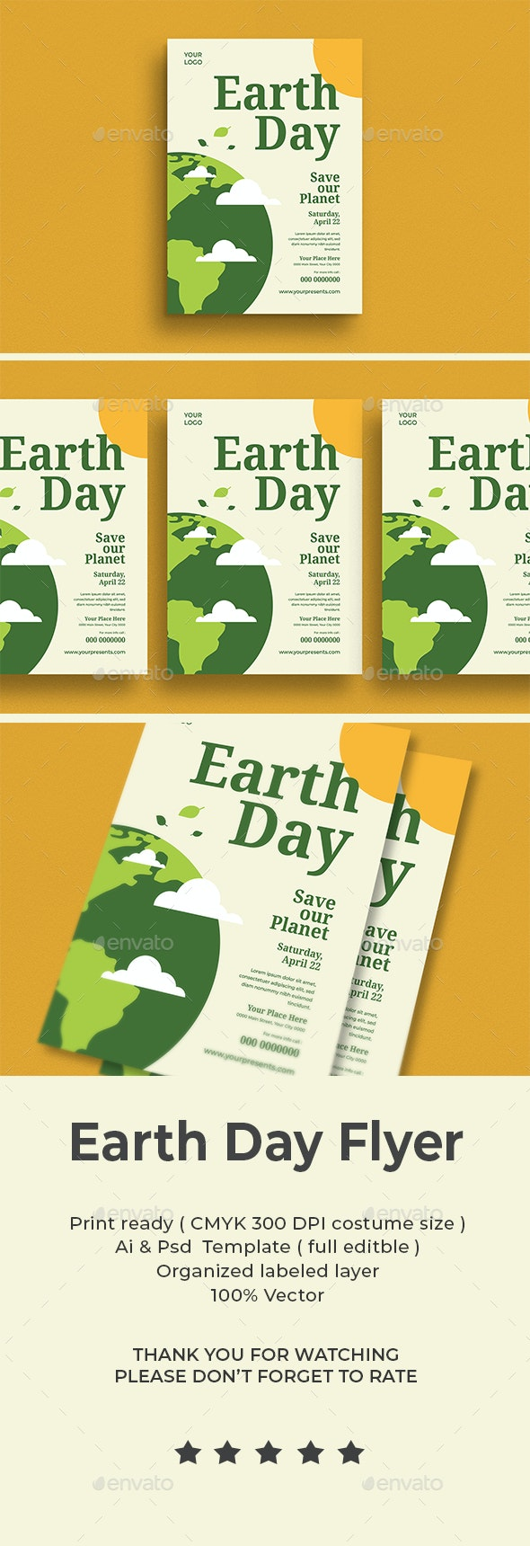 Earth Day Flyer - Flyers Print Templates