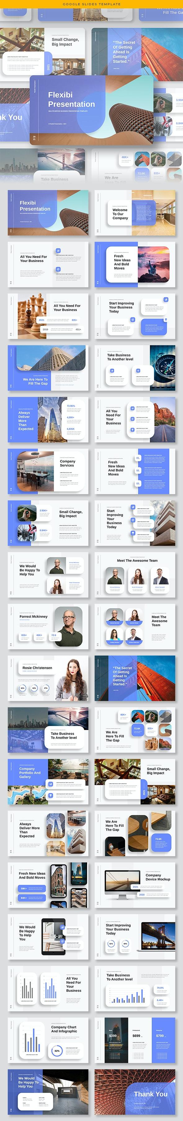 Flexibi - Multipurpose Business Google Slides Template - Google Slides Presentation Templates