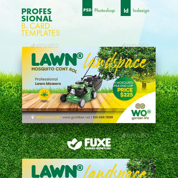 Garden Landspace Business Card Templates