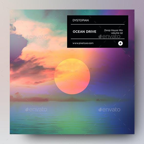 Ocean Drive – Music Album Cover Artwork Template