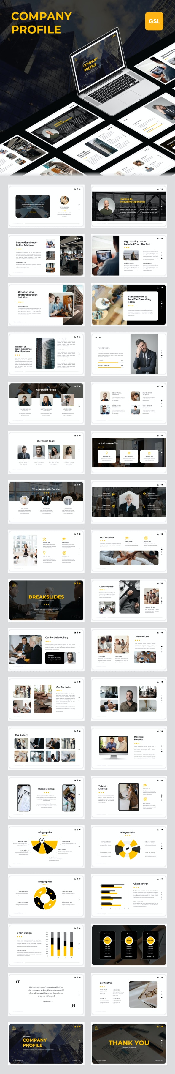 Company Profile - Google Slides Template - Google Slides Presentation Templates