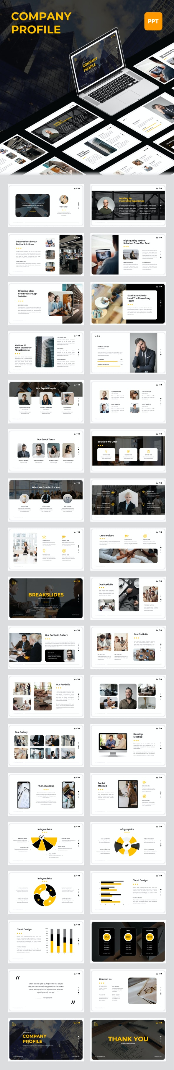 Company Profile - PowerPoint Template - Business PowerPoint Templates