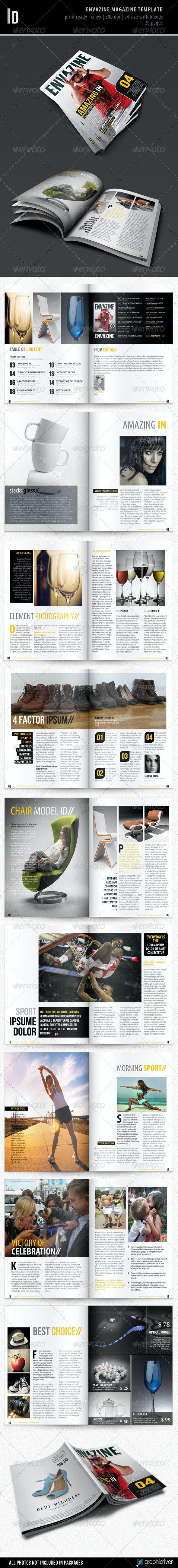 Envazine Magazine Template - Magazines Print Templates