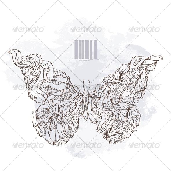 Bizarre Butterfly - Decorative Symbols Decorative