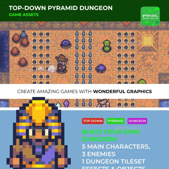 Top-down Pyramid Dungeon