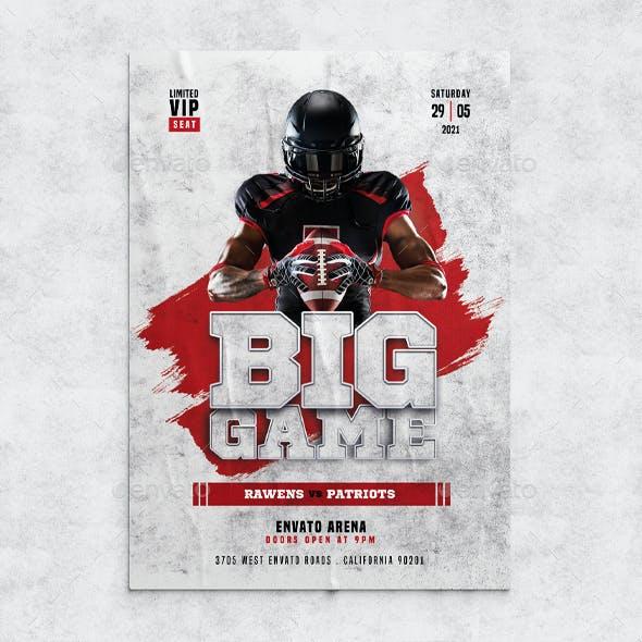 Big Game Football Flyer