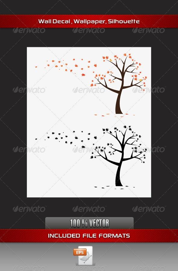 Maple Tree Wall Decla - Flowers & Plants Nature
