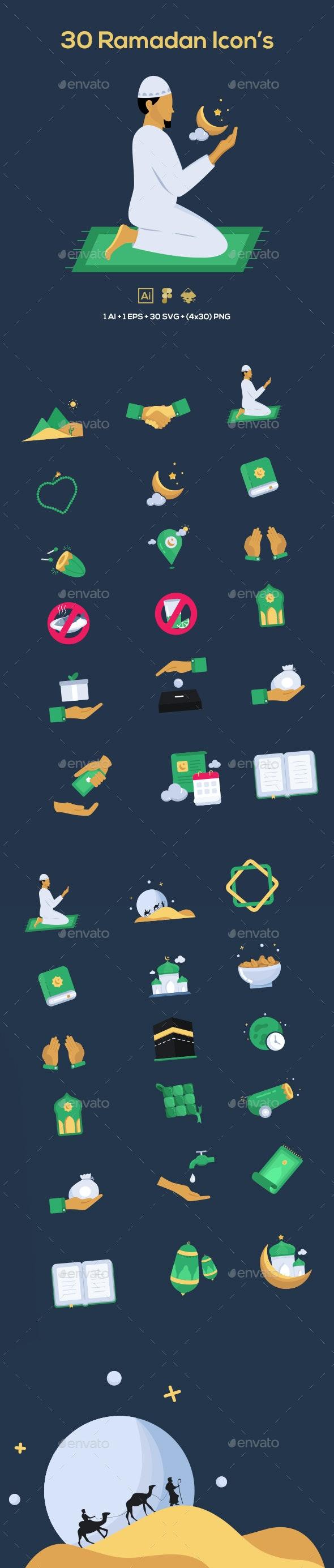 30 Ramadan Icons - Seasonal Icons