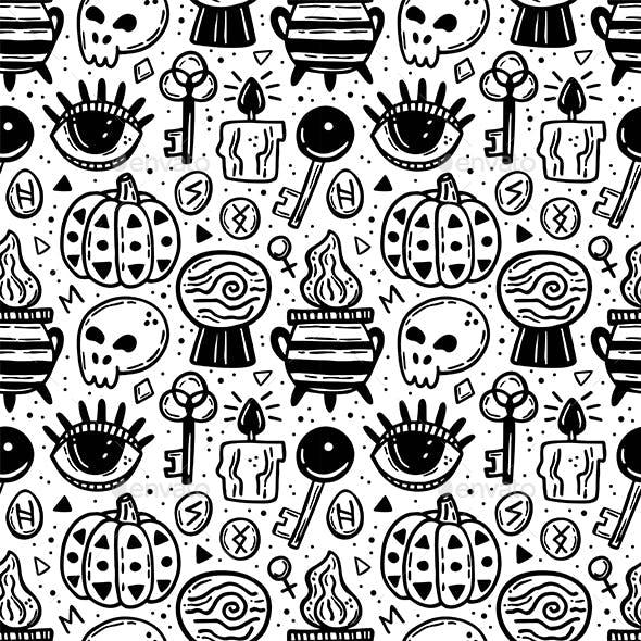 Halloween Seamless Pattern Design