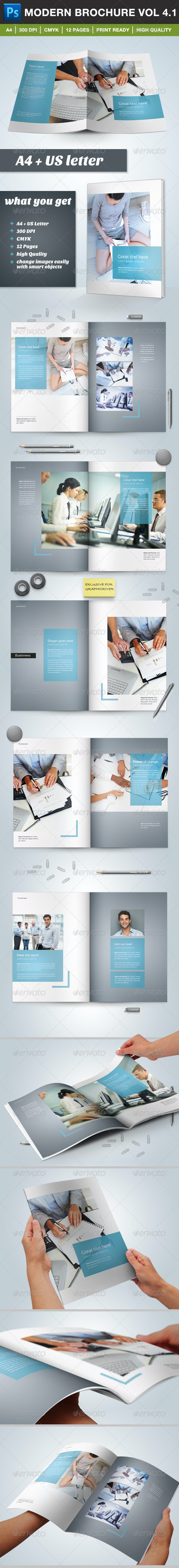 Modern Brochure Vol. 4.1 (12 pages) - Brochures Print Templates