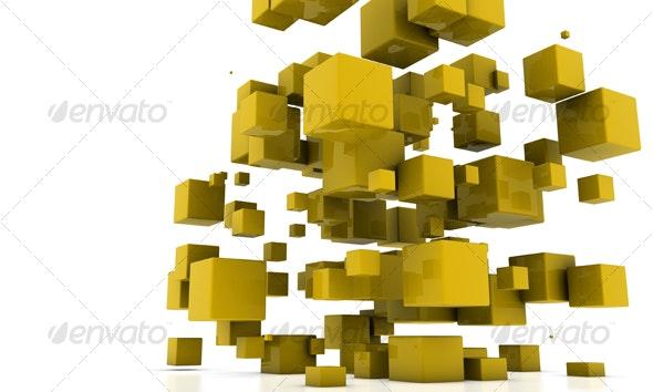 Cubes design - 3D Backgrounds
