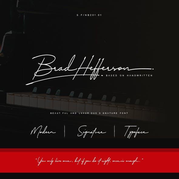 Brad Hefferson Signature Font