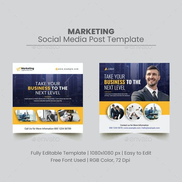 Marketing Social Media Post Template