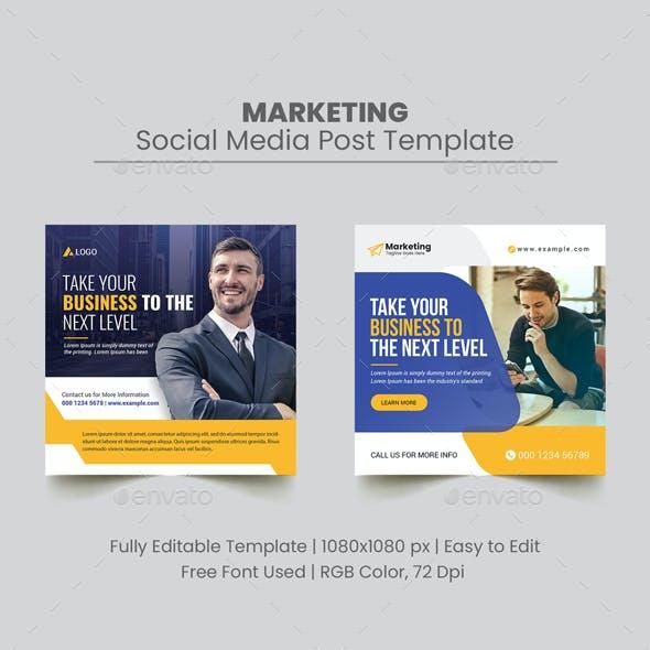 Corporate Social Media Post Banner Template