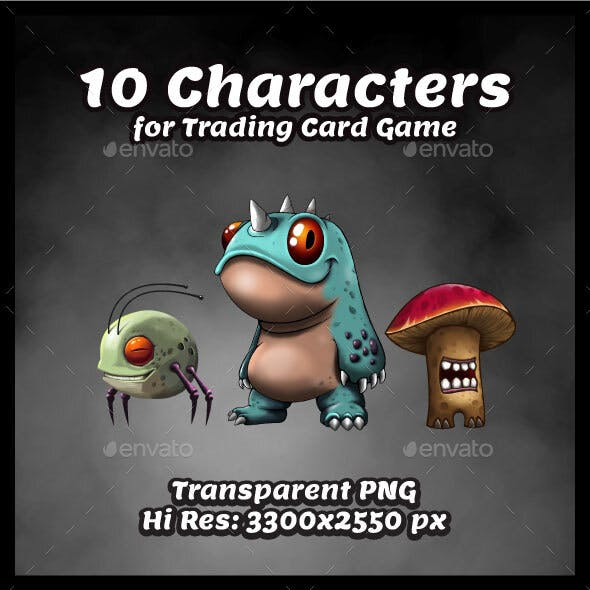 Characters for Trading Card Games