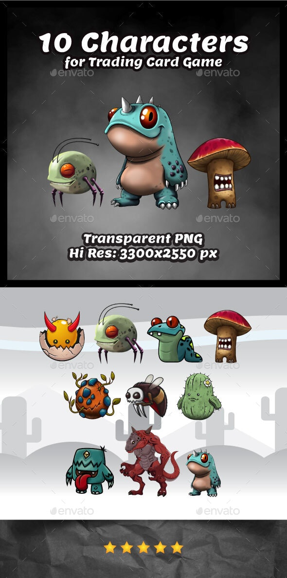 Characters for Trading Card Games - Miscellaneous Game Assets