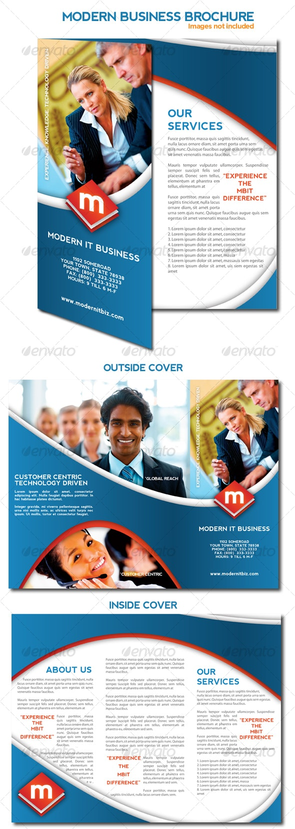 Modern Business Trifold Brochure - Corporate Brochures