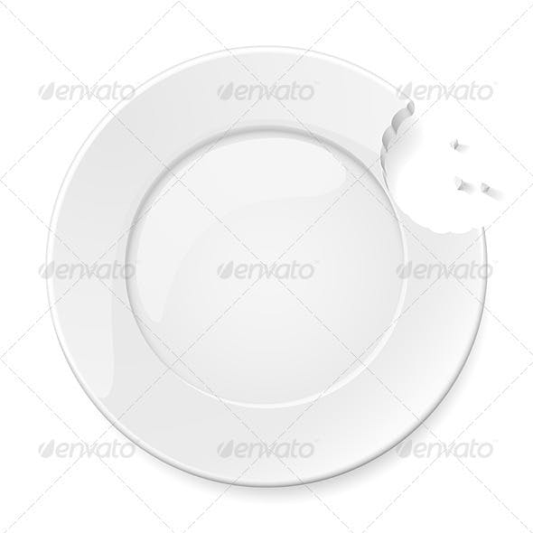 Abstract bitten plate
