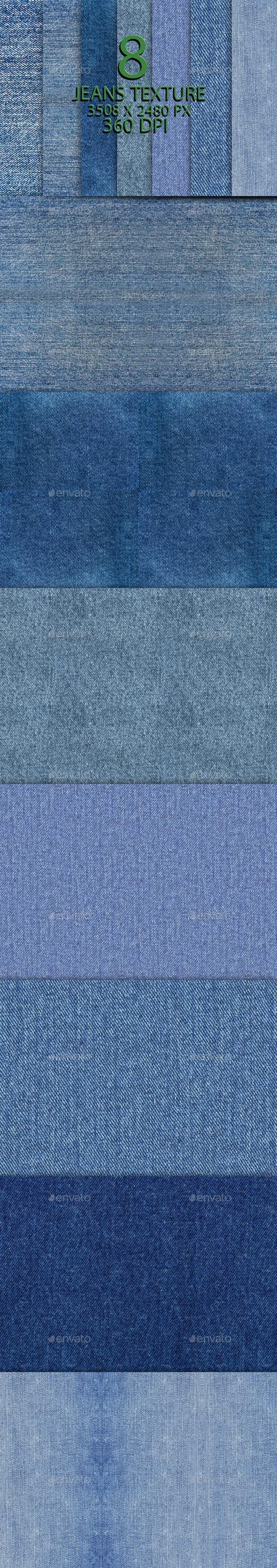 8 Jeans Texture Background Part - Backgrounds Graphics