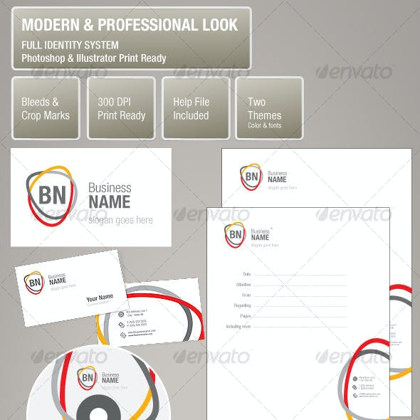 Modern Professional Look Corporate Identity System