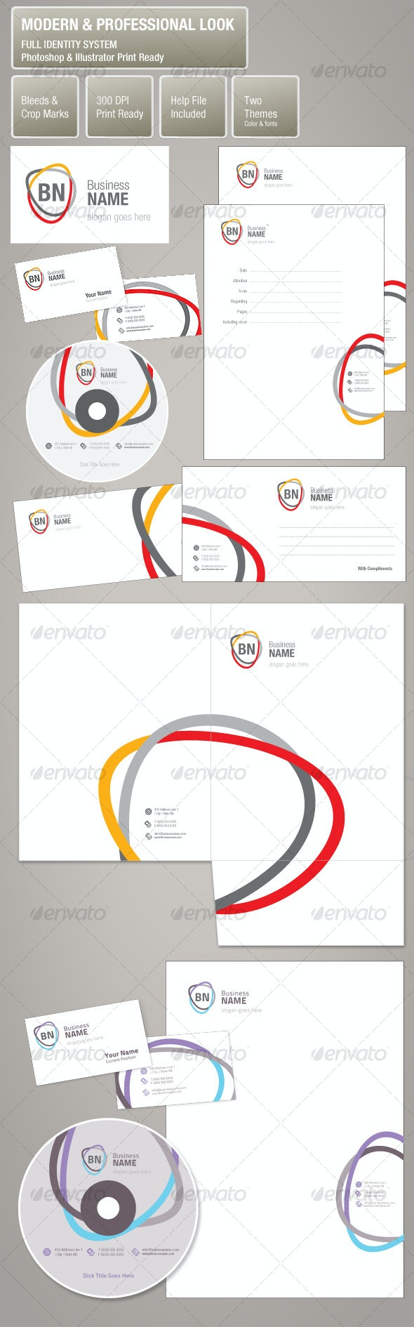 Modern Professional Look Corporate Identity System - Stationery Print Templates