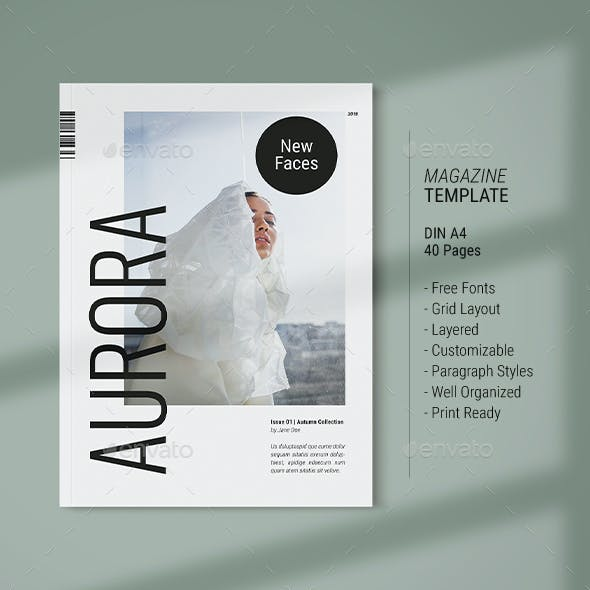 Magazine Template | Aurora