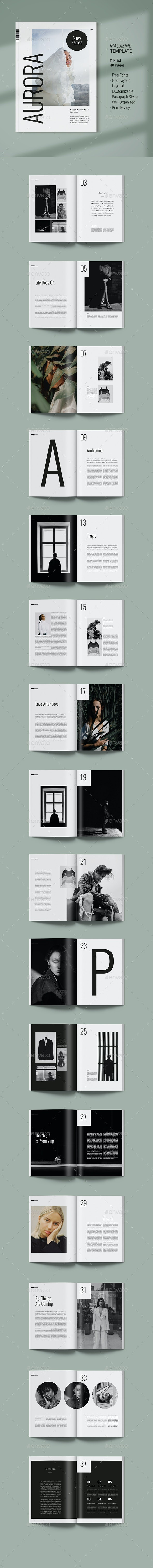 Magazine Template | Aurora - Magazines Print Templates