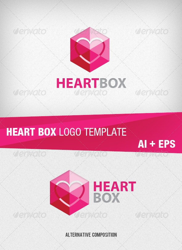Heart Box Logo Template - Symbols Logo Templates