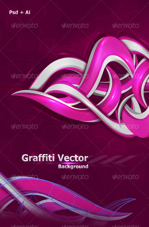 Graffiti Vector Background - Backgrounds Graphics