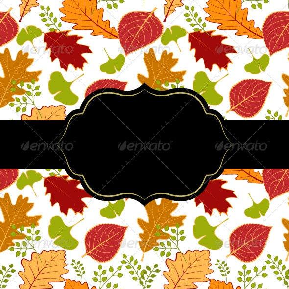 Autumn Leaf Greeting Card - Backgrounds Decorative