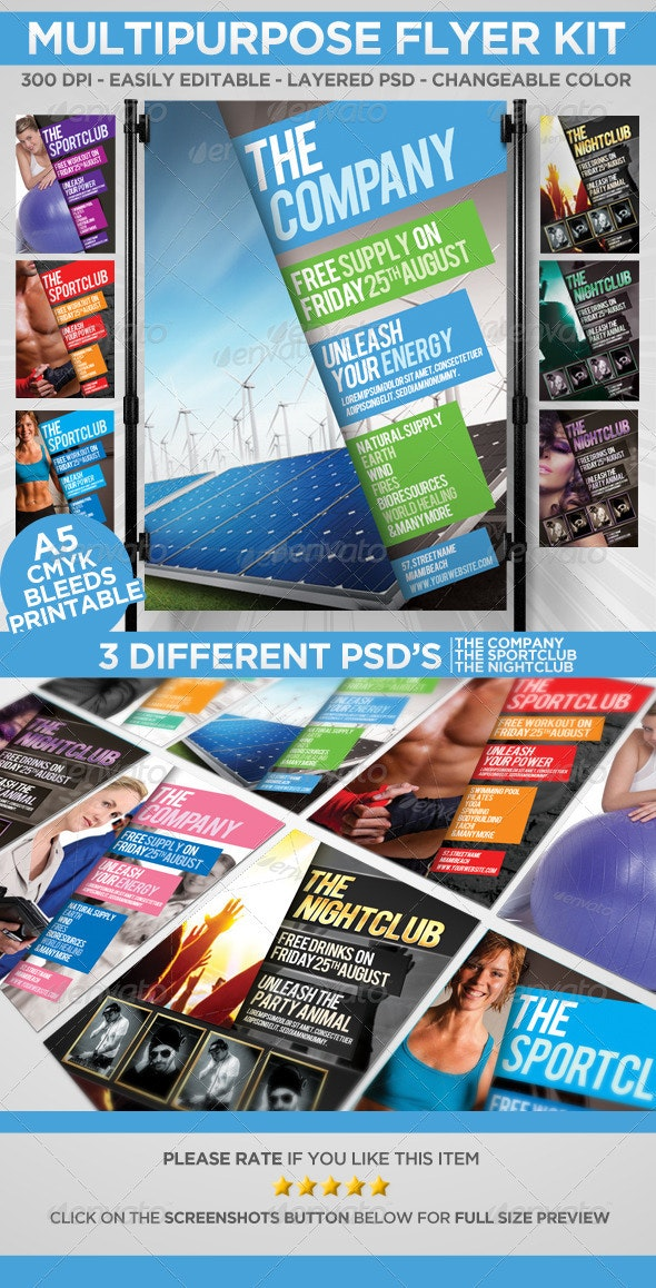 Multipurpose Flyer Kit A5 - Corporate Flyers