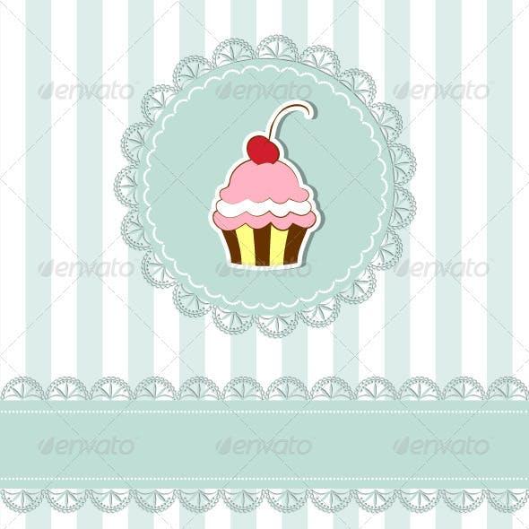 Cherry Cupcake Invitation Card