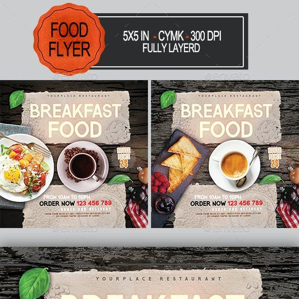 Breakfast Food Flyer